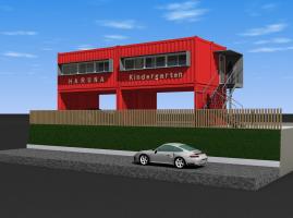 幼稚園増築計画(コンテナ建築)